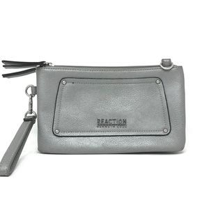 Silver Kenneth Cole Reaction Wristlet Cluch